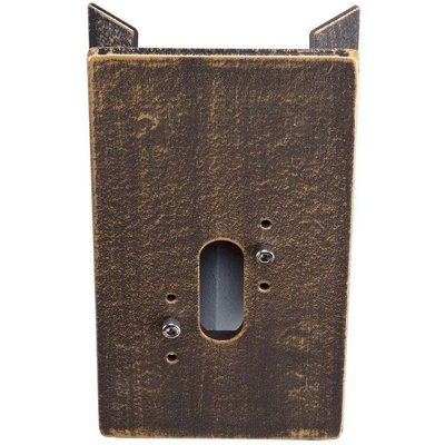 Corner block for outdoor wall lights  brown brass - 04007235510065