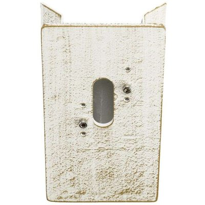 Corner block for outdoor wall lights  white gold - 04007235710069