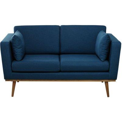 2-Seater Fabric Sofa in Petrol Blue Timeo