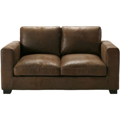 2-Seater Imitation Suede Sofa in Brown Kennedy