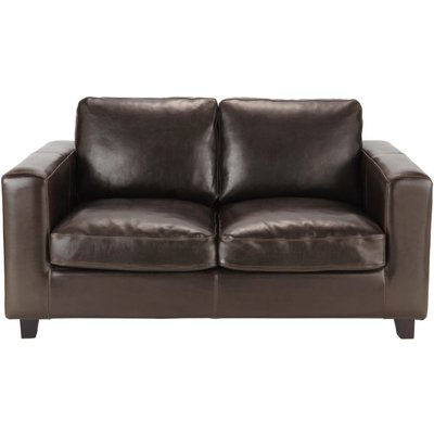 2-Seater Split Leather Sofa in Brown Kennedy