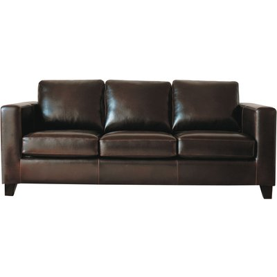 3 Seater Split Leather Sofa in Chocolate Kennedy