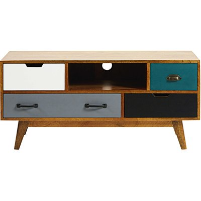 4-drawer solid mango wood TV unit Picadilly