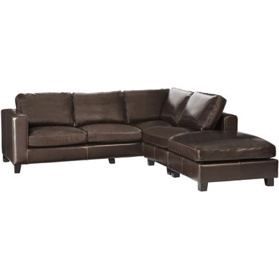 5 Seater Split Leather Corner Sofa in Chocolate Kennedy