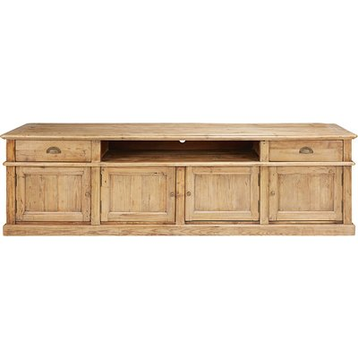 Antique recycled pine 4-door 2-drawer TV unit Marlone