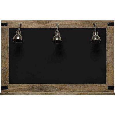 FACTORY blackboard + 3 wall lights 85 x 130cm