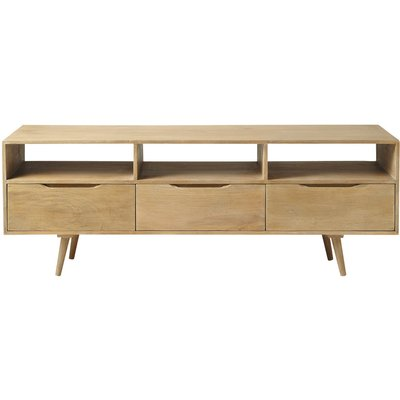 Mango wood vintage TV unit Trocadero