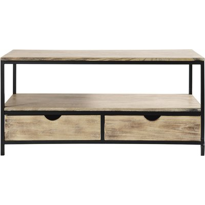 Solid Fir and Metal Industrial TV Unit Long Island