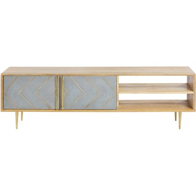 Solid Mango Wood 2-Door TV Cabinet Carlotta