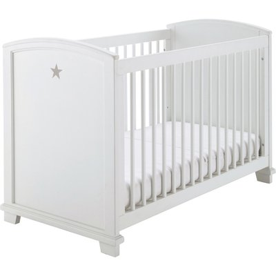 White Cot with Star Print L131