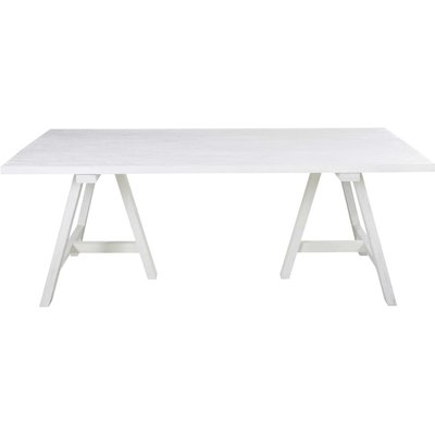 White Solid Oak 8/10-Seater Dining Table W200