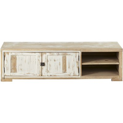 Whitewashed Recycled Pine 2-Door TV Unit Kinfolk