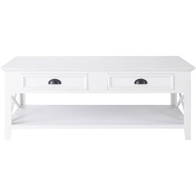 Wooden coffee table, white W 120cm