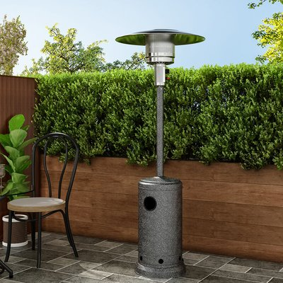 13KW Outdoor Gas Powered Patio Heater Freestanding With Wheel