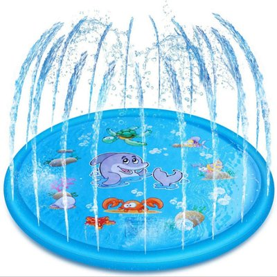 Kingso - 150CM Outdoor Inflatable Watering Pad Sprinkle Splash Water Play Mat Children's Toy