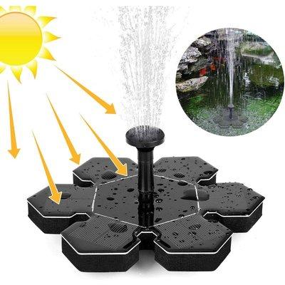 1.5W Solar Fountain Pump for Bird Bath, Portable Floating Solar Powered Water Fountain Pump for Birdbath Garden Backyard Pond Pool Outdoor - Black