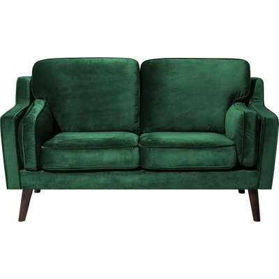 Beliani - 2 Seater Velvet Sofa Green LOKKA
