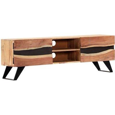 TV Cabinet 140x30x45 cm Solid Acacia Wood - VIDAXL