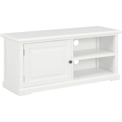 TV Cabinet 90x30x40 cm Wood White - VIDAXL