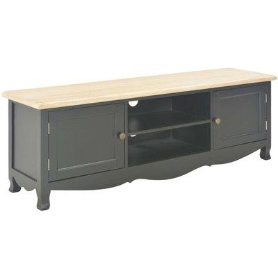 vidaXL TV Cabinet 120x30x40 cm Wood Black - Black