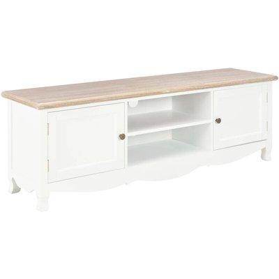 TV Cabinet 120x30x40 cm Wood White - VIDAXL