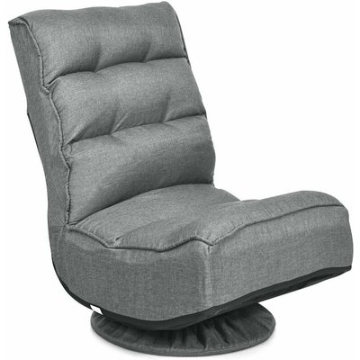 Costway - 360-Degree Folding Lazy Sofa Chair Ergonomic Swivel Adjustable Floor Game Chair