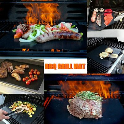 3pcs Sauce Basting Brush Barbecue BBQ Grill Oven Liner Grill Mat 40*50cm