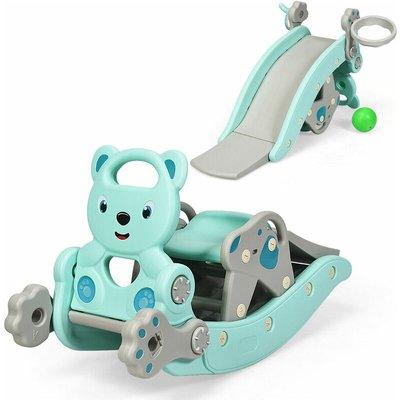 Costway - 4 In 1 Children Rocking Horse Toddler Kids Playground Slide Climber W/ Games