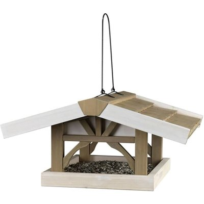 Hanging Bird Feeder Natura 46x22x44 cm Brown and White 55801 - Trixie