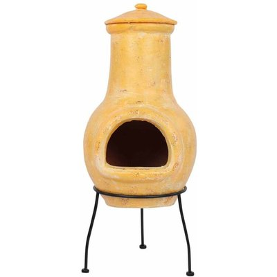 Red Fire - RedFire Fireplace Tampico Yellow 31x31x68 cm Clay - Yellow
