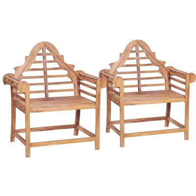Garden Chair 2 pcs 91x62x102 cm Solid Teak - VIDAXL
