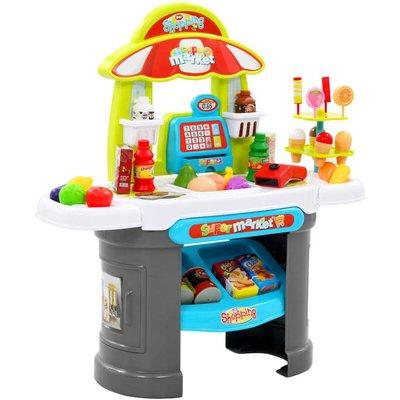 51 Piece Kids' Pretend Shop Play Set 68x25x67.5 cm - Multicolour - Vidaxl