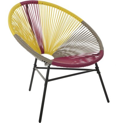 Rattan Accent Chair Multicolour Yellow ACAPULCO - BELIANI