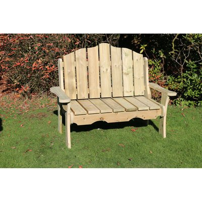 Alton Manor Wooden Bench, Garden seat - CHURNET VALLEY