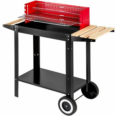 BBQ grill - charcoal grill, barbecue, charcoal bbq - black/red