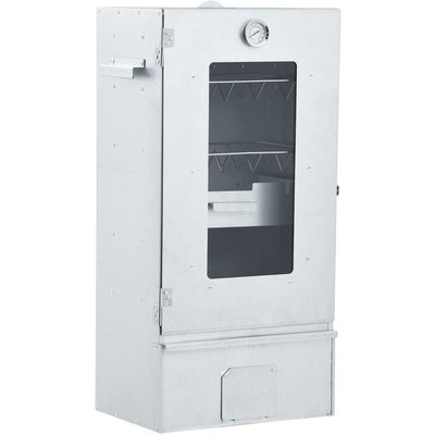 BBQ Oven Smoker with 1kg Wood Chips 44.5x29x83 cm - VIDAXL