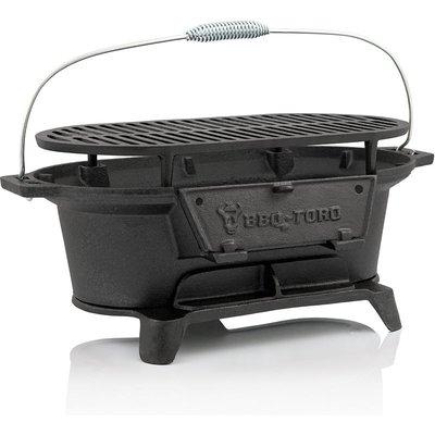 cast iron charcoal grill pot with grillage, 50 x 25 x 23 cm - Bbq-toro