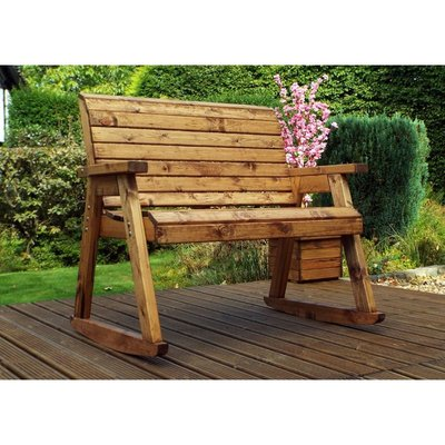 Bench Rocker, wooden garden rocking seat, fully assembled - CHARLES TAYLOR