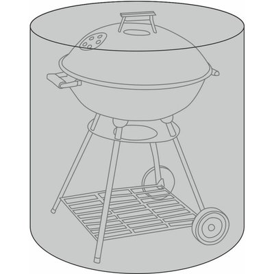 Bbq Premium Polyester Canvas Black Waterproof Kettle Bbq Cover - Charles Bentley