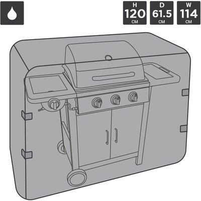 Charles Bentley Universal Waterproof Premium Gas Charcoal BBQ Cover Medium 3 - 4 - Black