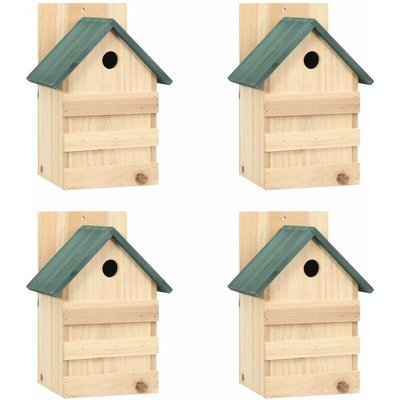 Bird Houses 4 pcs 23x19x33 cm Firwood - YOUTHUP