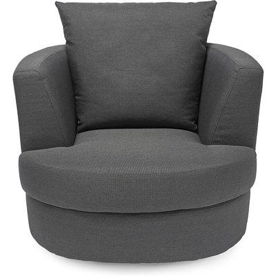 Blacy Small Swivel Chair Grey