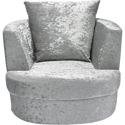 Netfurniture - Blacy Small Swivel Chair Silver