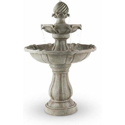 Bird Bath Garden Fountain Solar Powered Concrete Stone Look 60x90cm 3W - Blumfeldt