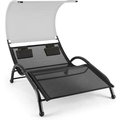 Dandyland Two-seater Swinging Lounger 130x200cm Canopy Grey - Blumfeldt