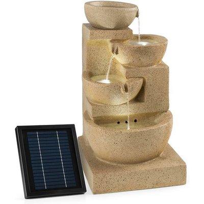 Blumfeldt - Korinth Garden Fountain Ornamental Fountain 3W Solar LED Sandstone Look