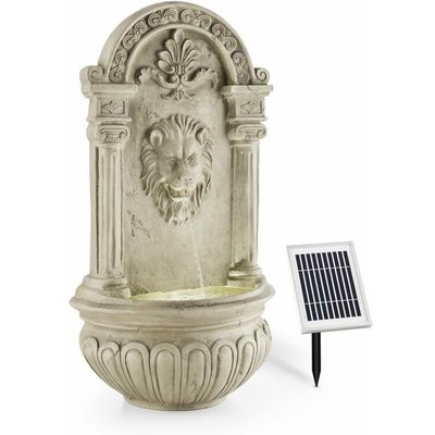 Löwenstein Wall Fountain Garden Fountain Solar 2W LED Polyresin Stone Look - Blumfeldt