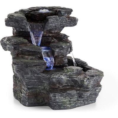 Rochester Falls Garden Fountain IPX8 6W Polyresin 3 LEDs Stone Look - Blumfeldt