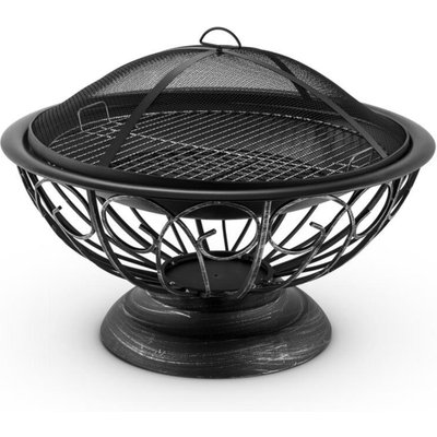 Blumfeldt Tulip Fire Pit ø75cm Barbecue Fireplace Spark Protection Burnished Steel
