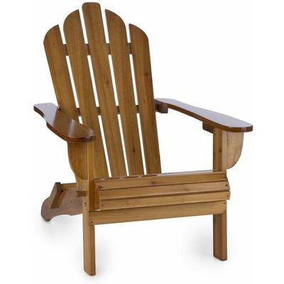 Vermont Garden Chair adirondack style fir wood 73x88x94 foldable brown - Blumfeldt